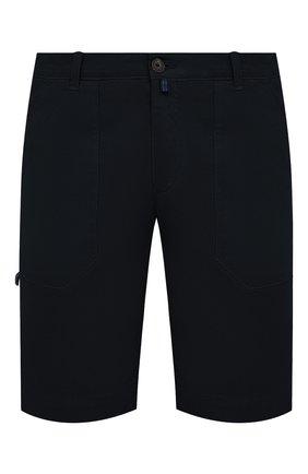 Мужские хлопковые шорты CORNELIANI темно-синего цвета, арт. 874EC1-1120134/00 | Фото 1 (Принт: Без принта; Длина Шорты М: До колена; Материал внешний: Хлопок; Стили: Кэжуэл; Мужское Кросс-КТ: Шорты-одежда)