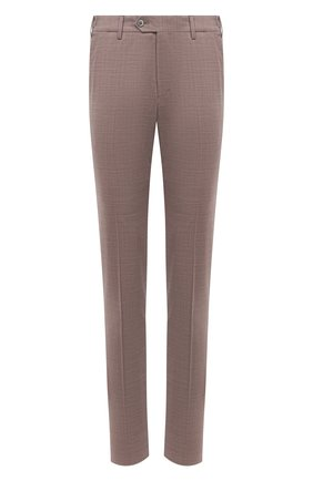 Мужские брюки из шерсти и хлопка CORNELIANI бежевого цвета, арт. 874B08-1114570/02 | Фото 1