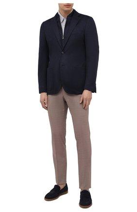 Мужские брюки из шерсти и хлопка CORNELIANI бежевого цвета, арт. 874B08-1114570/02 | Фото 2