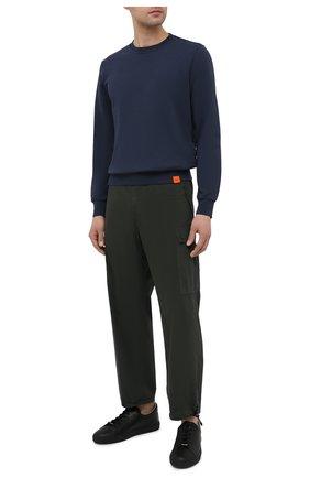 Мужской хлопковый свитшот ASPESI темно-синего цвета, арт. S1 A AY40 G455 | Фото 2 (Принт: Без принта; Длина (для топов): Стандартные; Рукава: Длинные; Материал внешний: Хлопок; Мужское Кросс-КТ: свитшот-одежда; Стили: Кэжуэл)