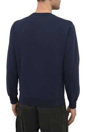 Мужской хлопковый свитшот ASPESI темно-синего цвета, арт. S1 A AY40 G455   Фото 4 (Рукава: Длинные; Принт: Без принта; Длина (для топов): Стандартные; Мужское Кросс-КТ: свитшот-одежда; Материал внешний: Хлопок; Стили: Кэжуэл)
