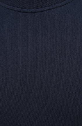 Мужской хлопковый свитшот ASPESI темно-синего цвета, арт. S1 A AY40 G455   Фото 5 (Рукава: Длинные; Принт: Без принта; Длина (для топов): Стандартные; Мужское Кросс-КТ: свитшот-одежда; Материал внешний: Хлопок; Стили: Кэжуэл)