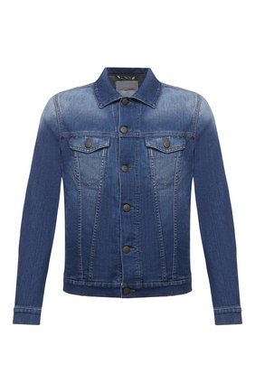 Мужская джинсовая куртка JACOB COHEN синего цвета, арт. J8064 MILITARY C0MF 01372-W5/55 | Фото 1