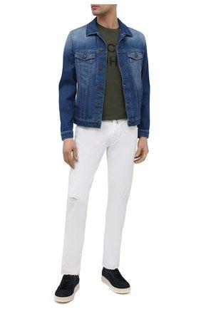 Мужская джинсовая куртка JACOB COHEN синего цвета, арт. J8064 MILITARY C0MF 01372-W5/55 | Фото 2