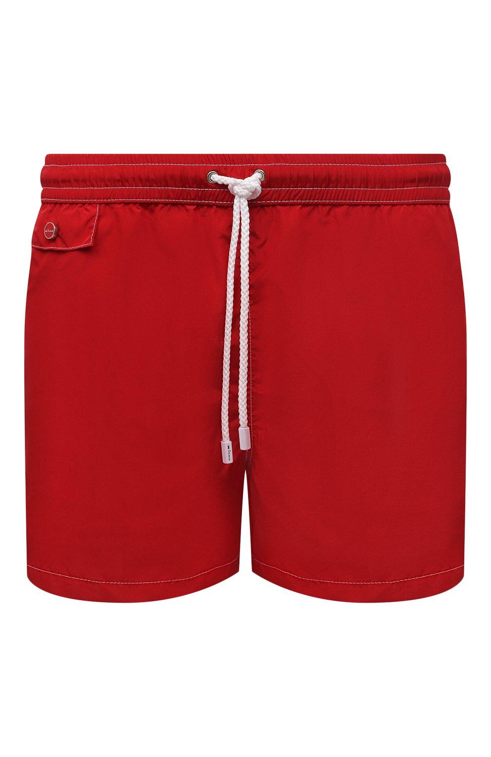 Мужские плавки-шорты KITON красного цвета, арт. UC0M2CX07T09   Фото 1