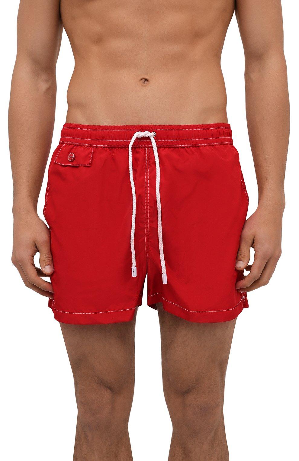 Мужские плавки-шорты KITON красного цвета, арт. UC0M2CX07T09   Фото 2