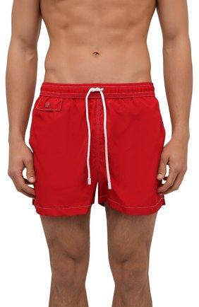 Мужские плавки-шорты KITON красного цвета, арт. UC0M2CX07T09 | Фото 2