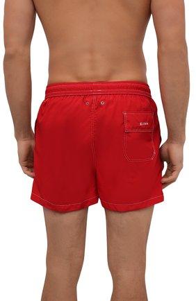 Мужские плавки-шорты KITON красного цвета, арт. UC0M2CX07T09   Фото 3