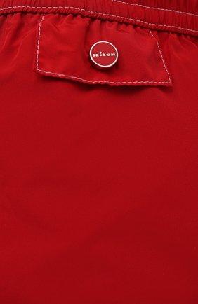 Мужские плавки-шорты KITON красного цвета, арт. UC0M2CX07T09   Фото 4