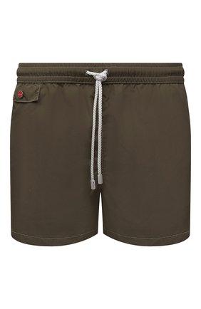 Мужские плавки-шорты KITON хаки цвета, арт. UC0M2CX07T09 | Фото 1