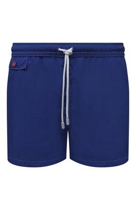 Мужские плавки-шорты KITON темно-синего цвета, арт. UC0M2CX07T09 | Фото 1