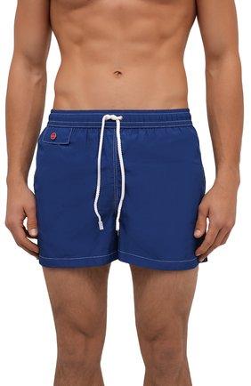 Мужские плавки-шорты KITON темно-синего цвета, арт. UC0M2CX07T09 | Фото 2