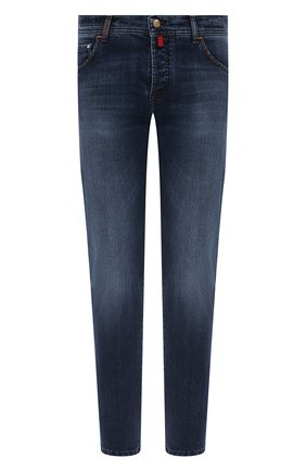 Мужские джинсы KITON синего цвета, арт. UPNJS/J07T25 | Фото 1