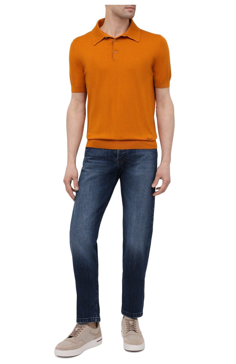 Мужские джинсы KITON синего цвета, арт. UPNJS/J07T25 | Фото 2