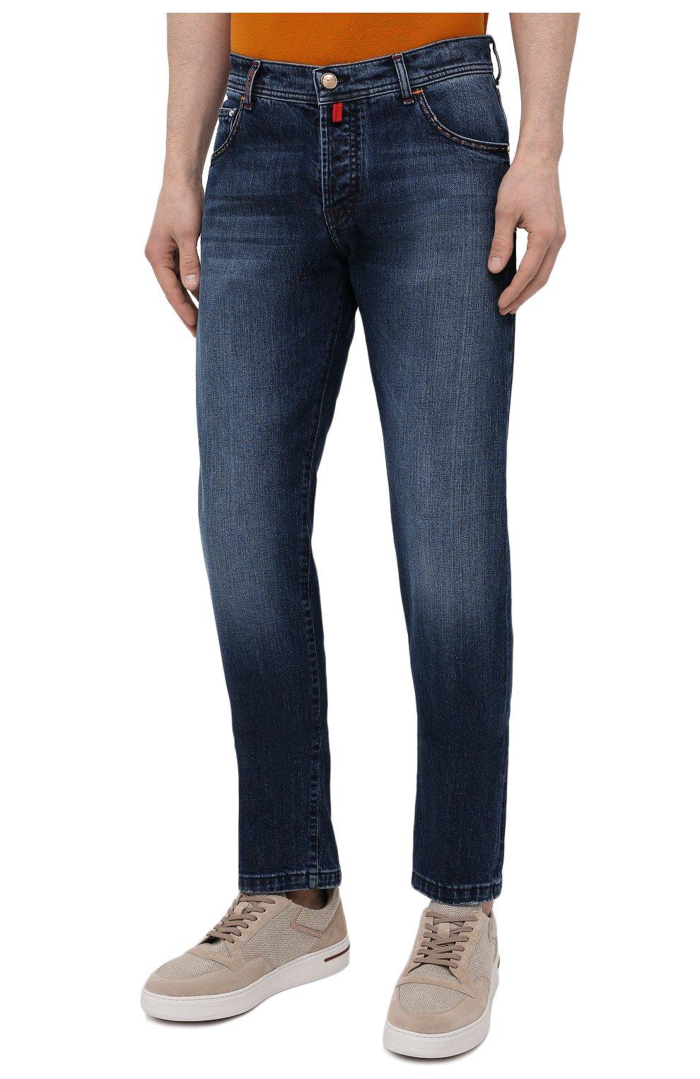 Мужские джинсы KITON синего цвета, арт. UPNJS/J07T25 | Фото 3