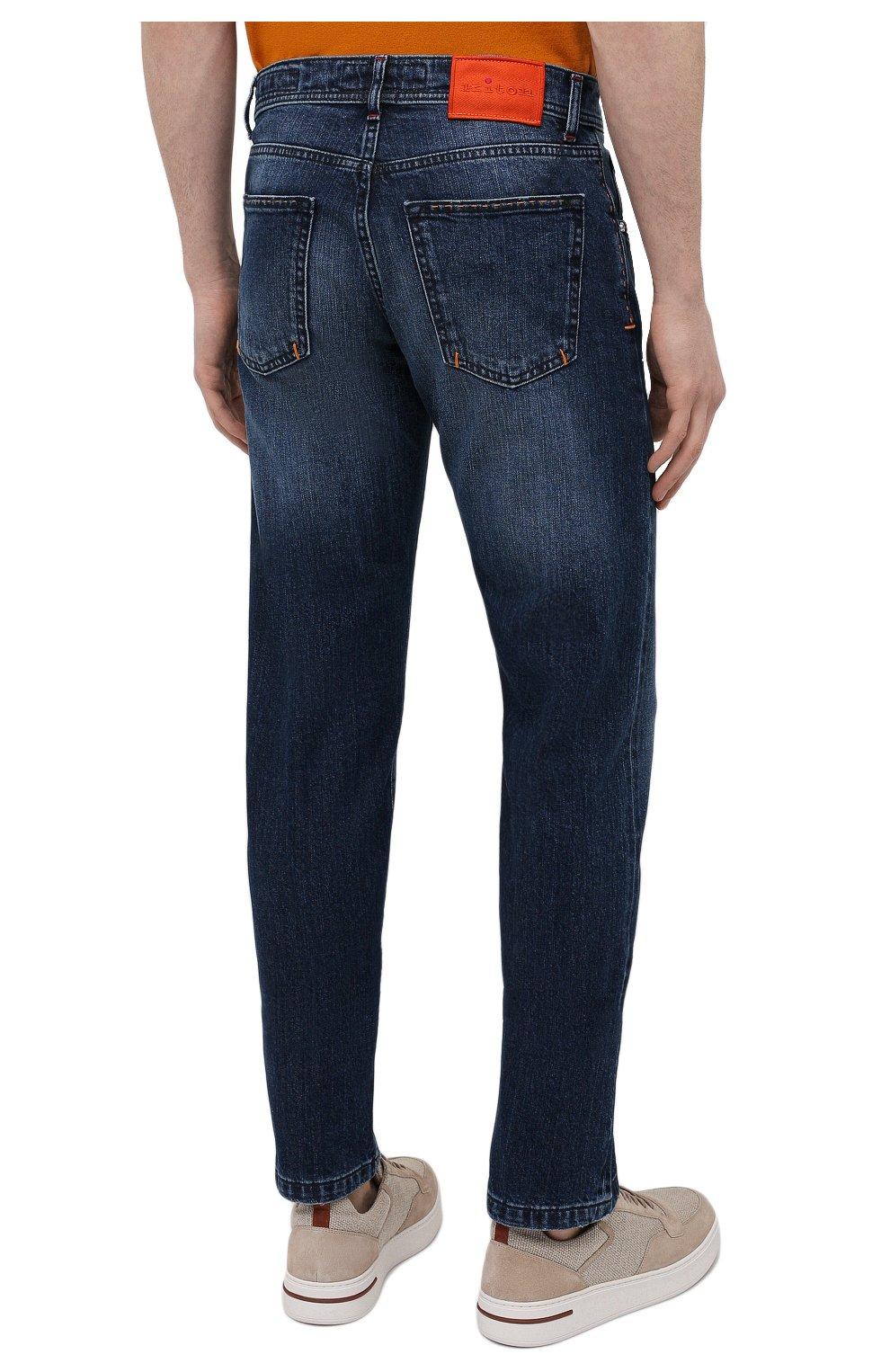 Мужские джинсы KITON синего цвета, арт. UPNJS/J07T25 | Фото 4