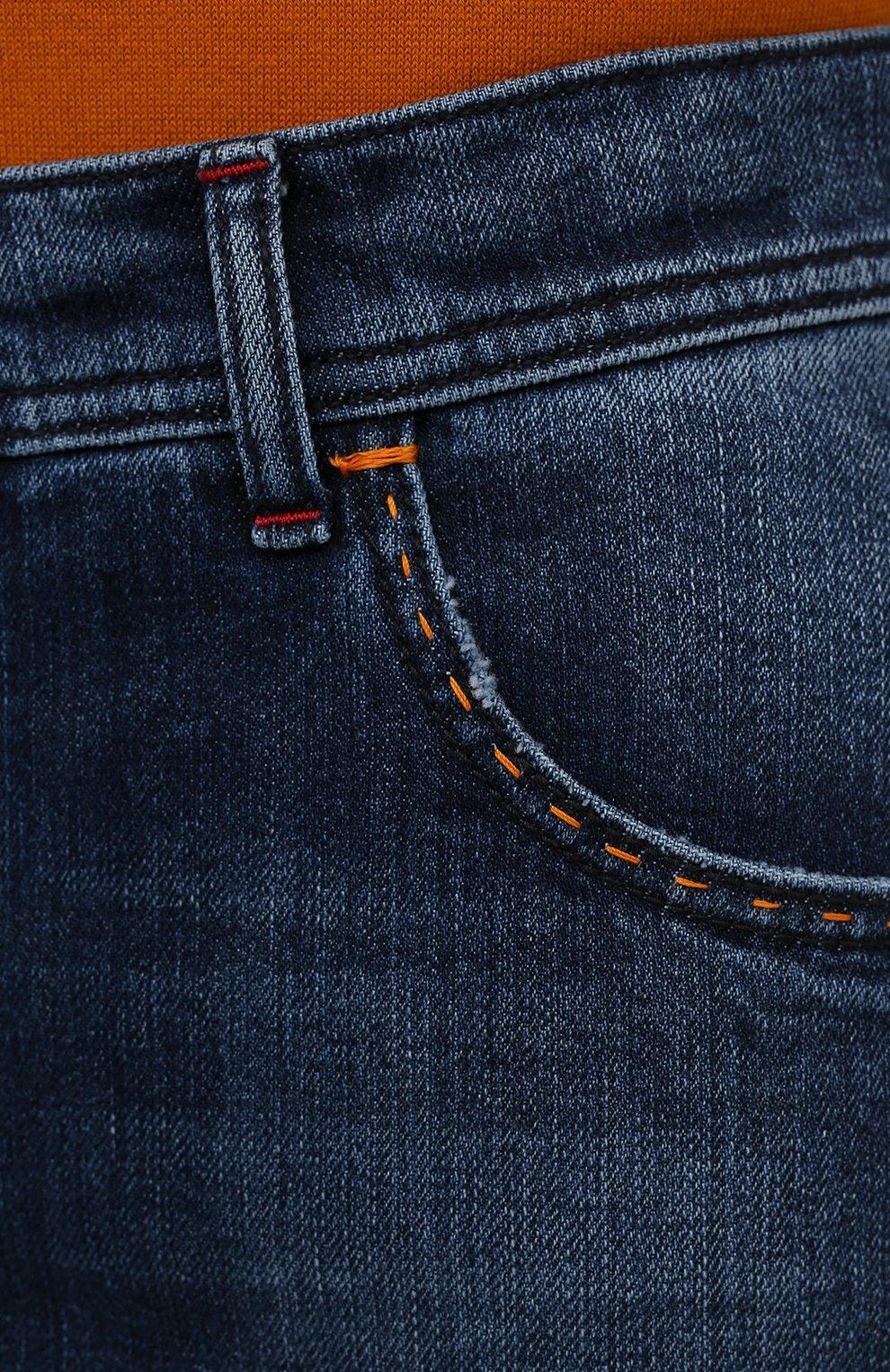 Мужские джинсы KITON синего цвета, арт. UPNJS/J07T25 | Фото 5