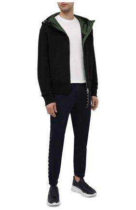 Мужской хлопковая толстовка MONCLER черного цвета, арт. G1-091-8G7C0-00-809KR | Фото 2 (Материал внешний: Хлопок; Рукава: Длинные; Мужское Кросс-КТ: Толстовка-одежда; Длина (для топов): Стандартные; Стили: Кэжуэл)