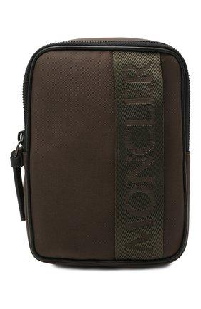 Мужская текстильная сумка detour MONCLER хаки цвета, арт. G1-09A-5L700-00-549ZM   Фото 1 (Материал: Текстиль; Ремень/цепочка: На ремешке)