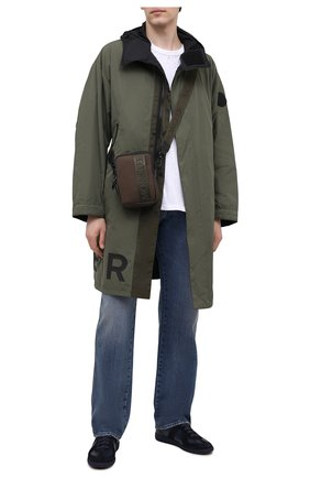 Мужская текстильная сумка detour MONCLER хаки цвета, арт. G1-09A-5L700-00-549ZM   Фото 2 (Материал: Текстиль; Ремень/цепочка: На ремешке)