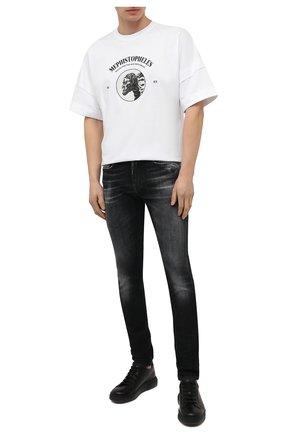 Мужские джинсы 7 FOR ALL MANKIND темно-серого цвета, арт. JSD4A550AS | Фото 2