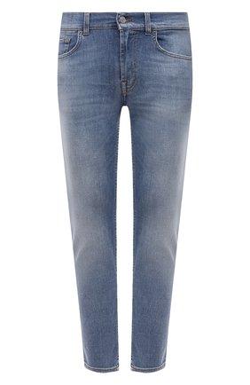 Мужские джинсы 7 FOR ALL MANKIND голубого цвета, арт. JSMXB530KL | Фото 1
