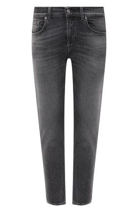 Мужские джинсы 7 FOR ALL MANKIND серого цвета, арт. JSMXB540KG | Фото 1