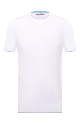 Мужской джемпер из хлопка и шелка CRUCIANI белого цвета, арт. CU5590.G32   Фото 1