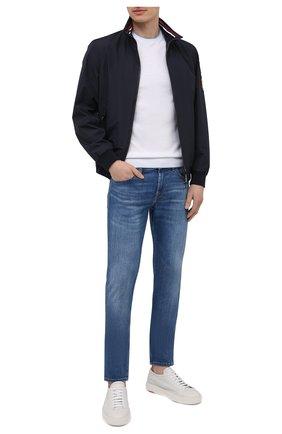 Мужской джемпер из хлопка и шелка CRUCIANI белого цвета, арт. CU5590.G32   Фото 2