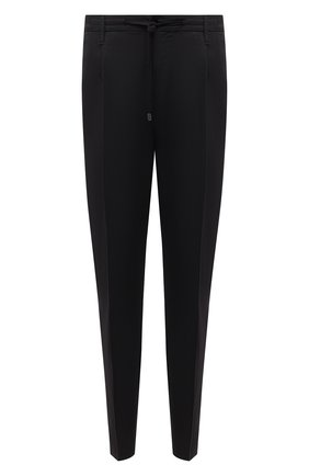 Мужские брюки из хлопка и льна CRUCIANI черного цвета, арт. CU27.730/B   Фото 1