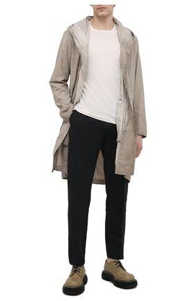 Мужские брюки из хлопка и льна CRUCIANI черного цвета, арт. CU27.730/B   Фото 2