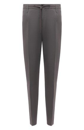 Мужские брюки из хлопка и льна CRUCIANI серого цвета, арт. CU27.730/B   Фото 1