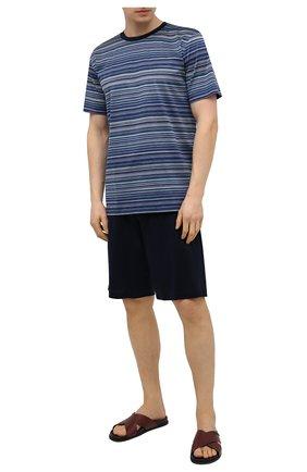 Мужская хлопковая пижама ZIMMERLI темно-синего цвета, арт. 3418-96051 | Фото 1