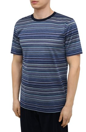 Мужская хлопковая пижама ZIMMERLI темно-синего цвета, арт. 3418-96051 | Фото 2