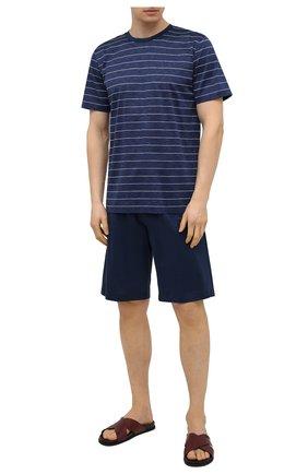 Мужская хлопковая пижама ZIMMERLI темно-синего цвета, арт. 3419-96051 | Фото 1