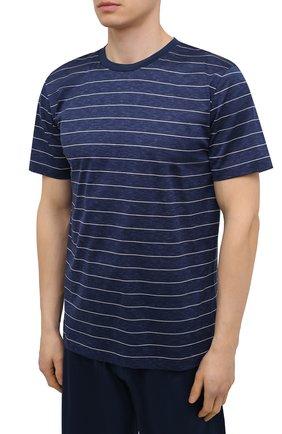 Мужская хлопковая пижама ZIMMERLI темно-синего цвета, арт. 3419-96051 | Фото 2