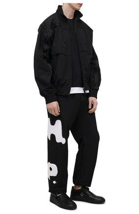 Мужские джоггеры HERON PRESTON черного цвета, арт. HMCA014S21FAB0011001 | Фото 2