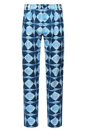 Мужские хлопковые брюки DOLCE & GABBANA синего цвета, арт. GWD5HT/FP6M9 | Фото 1