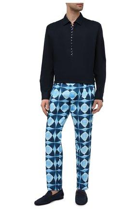 Мужские хлопковые брюки DOLCE & GABBANA синего цвета, арт. GWD5HT/FP6M9 | Фото 2