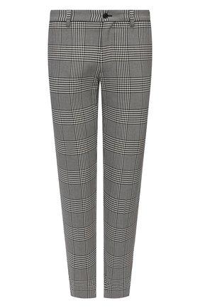 Мужские хлопковые брюки DOLCE & GABBANA светло-серого цвета, арт. GY6IET/FQ6CR | Фото 1