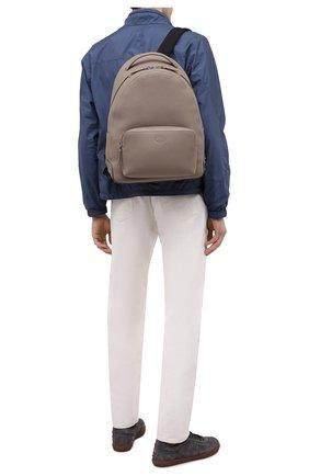 Мужской кожаный рюкзак TOD'S бежевого цвета, арт. XBMMDNG0300IAI | Фото 2