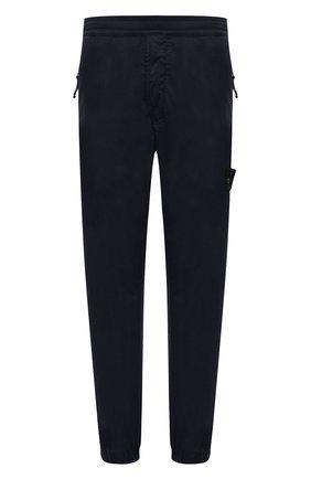 Мужские джоггеры из хлопка и шерсти STONE ISLAND темно-синего цвета, арт. 7415317F2 | Фото 1 (Материал внешний: Хлопок; Длина (брюки, джинсы): Стандартные; Силуэт М (брюки): Джоггеры; Стили: Спорт-шик)