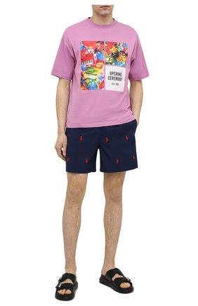 Мужские плавки-шорты POLO RALPH LAUREN темно-синего цвета, арт. 710835127 | Фото 2