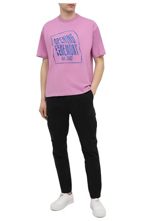 Мужские хлопковые брюки-карго POLO RALPH LAUREN черного цвета, арт. 710835172 | Фото 2