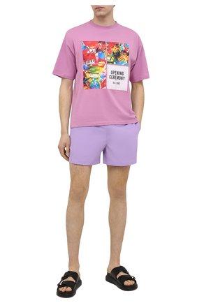 Мужские плавки-шорты POLO RALPH LAUREN сиреневого цвета, арт. 710837404 | Фото 2