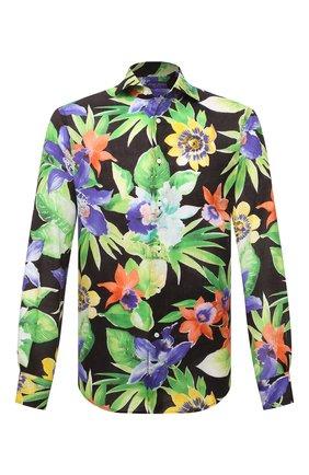 Мужская льняная рубашка RALPH LAUREN разноцветного цвета, арт. 790836059 | Фото 1