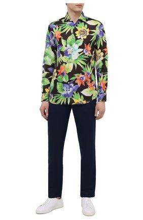 Мужская льняная рубашка RALPH LAUREN разноцветного цвета, арт. 790836059 | Фото 2