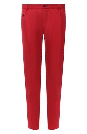 Мужские хлопковые брюки DOLCE & GABBANA красного цвета, арт. GY6UET/FU5NK | Фото 1