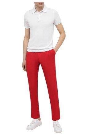 Мужские хлопковые брюки DOLCE & GABBANA красного цвета, арт. GY6UET/FU5NK | Фото 2