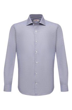 Мужская хлопковая сорочка LUCIANO BARBERA темно-синего цвета, арт. 105419/72052 | Фото 1